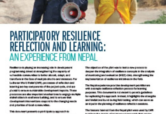 Participatory Resilience Reflection and Learning: An Experience from Nepal