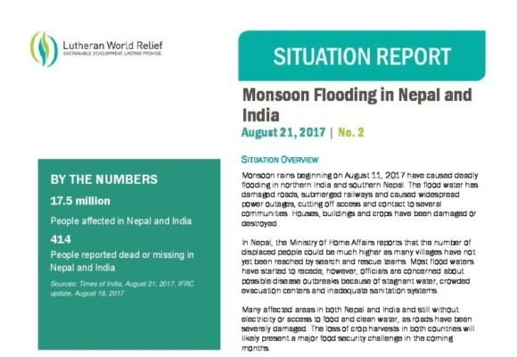 Monsoon Flooding in Nepal & India 2