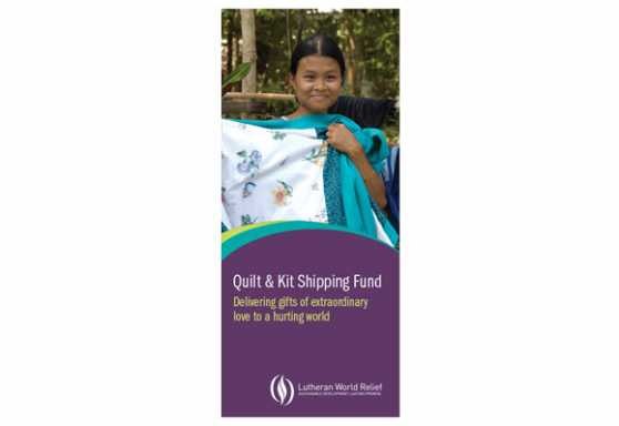 Quilt & Kit Shipping Fund Brochure