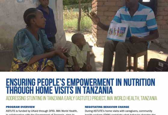 Ensuring people's empowerment in nutrition through home visits in Tanzania