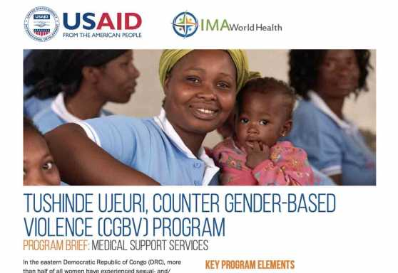 Tushinde Ujeuri, Counter Gender-Based Violence (CGBV) Program: Medical support services