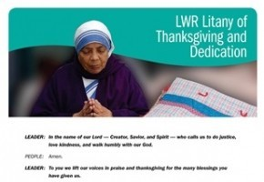 Litany of Thanksgiving and Dedication