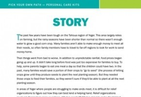 Pick Your Own Path Story - Personal Care Kit Leader Guide